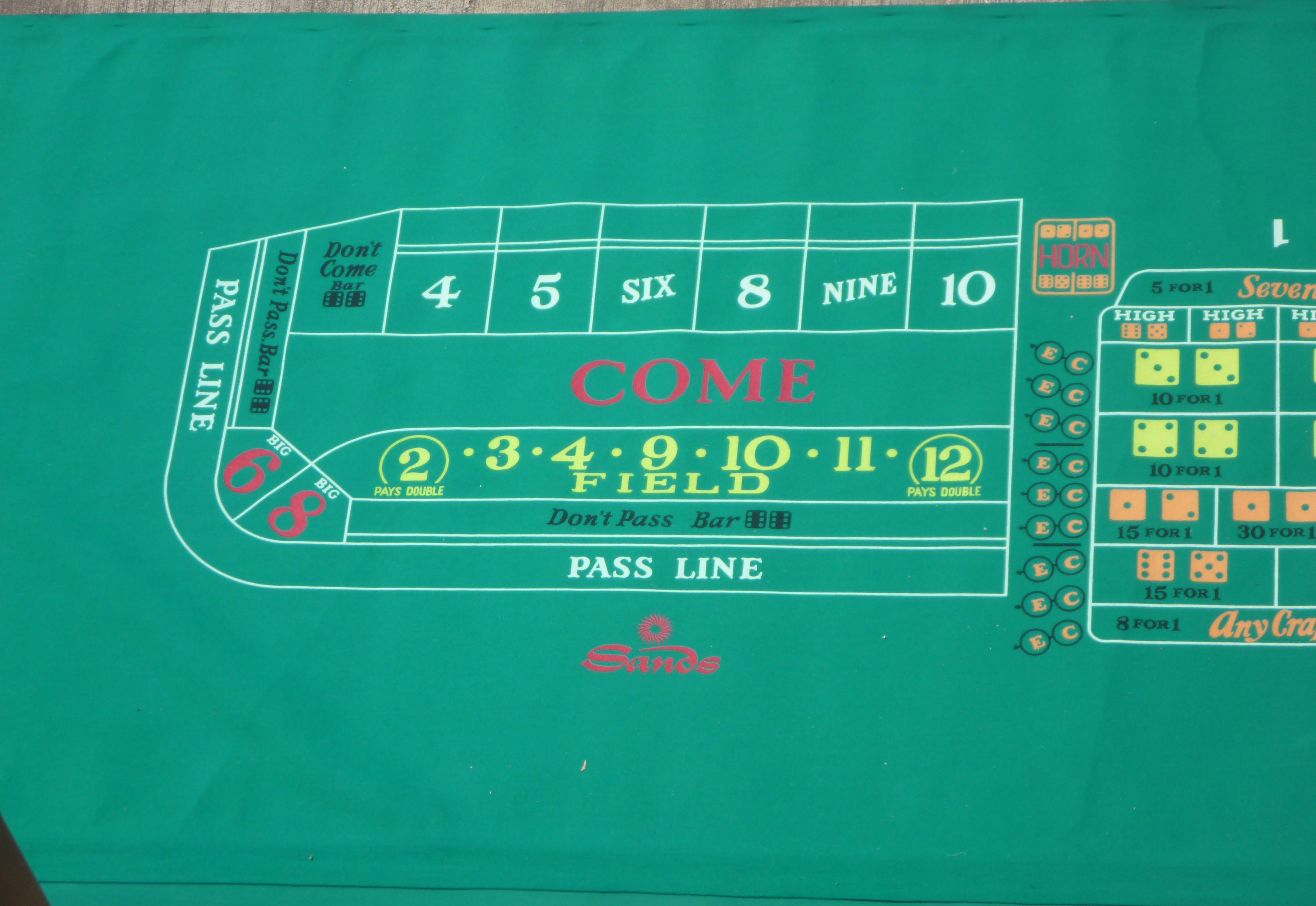 Casino craps table felt layout gambling/games area rugs
